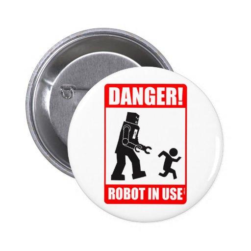 ¡Peligro! Botón funcionando del robot Pins