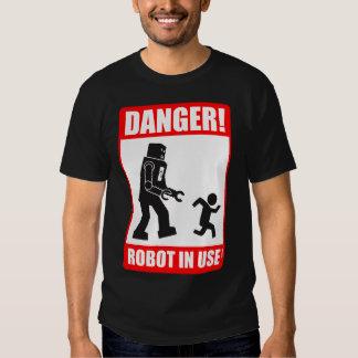 ¡Peligro! Camiseta funcionando del robot Polera
