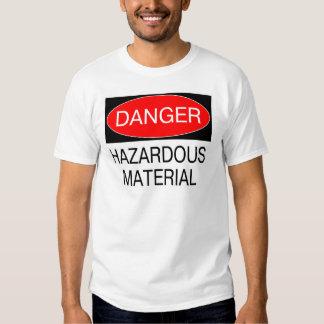 Peligro - camisetas divertidas de la seguridad del polera