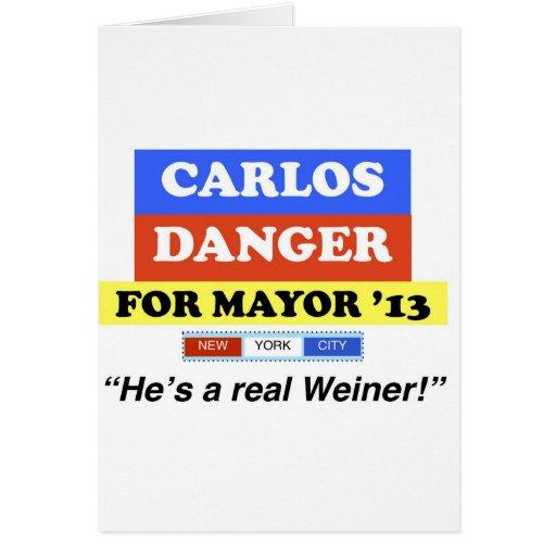 Peligro de Carlos para alcalde NYC '13 él es un We Felicitaciones