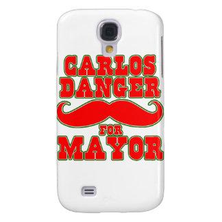 Peligro de Carlos para el alcalde con el bigote Funda Para Galaxy S4