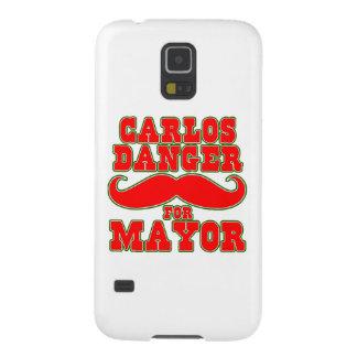 Peligro de Carlos para el alcalde con el bigote Carcasas Para Galaxy S5