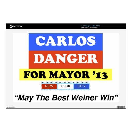 Peligro de Carlos para el mejor Weiner triunfo del Skins Para 43,2cm Portátiles