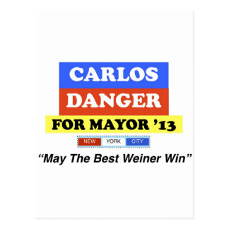 Peligro de Carlos para el mejor Weiner triunfo del Tarjeta Postal
