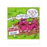 Peligro de la gripe de los cerdos postales