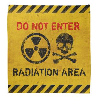 Peligro de radiación bandanas