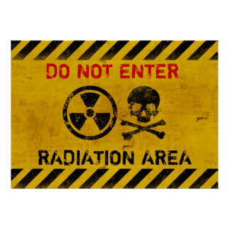 Peligro de radiación posters