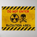 Peligro de radiación póster