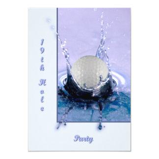 """Peligro del agua invitación 5"""" x 7"""""""