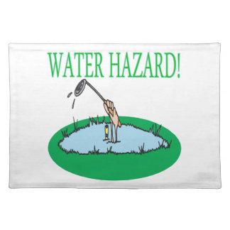 Peligro del agua mantel