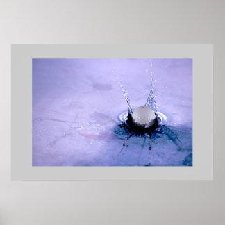 Peligro del agua poster