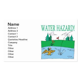 Peligro del agua plantillas de tarjeta de negocio