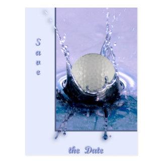 Peligro del agua tarjetas postales