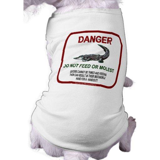 Peligro del cocodrilo ropa para mascota