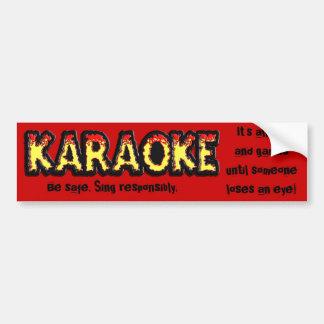 Peligro del Karaoke - pegatina para el parachoques Pegatina Para Auto