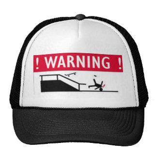 Peligro del patín gorras de camionero