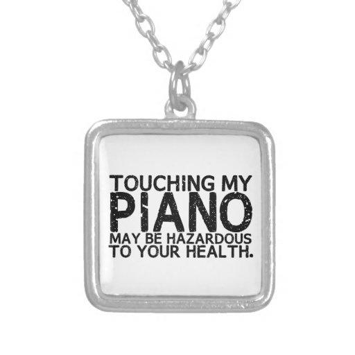 Peligro del piano collar personalizado