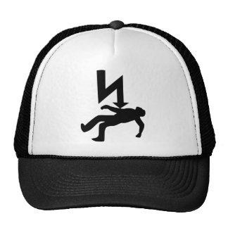 Peligro del símbolo de la descarga eléctrica gorras