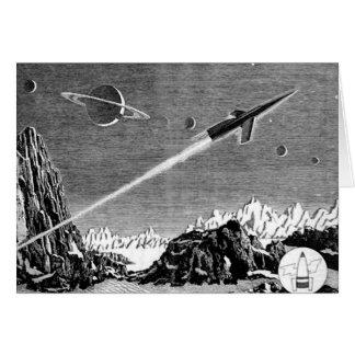 Peligro en el espacio profundo (1) tarjeta de felicitación