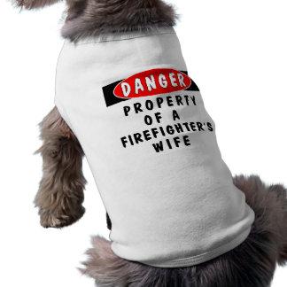 ¡Peligro!  Esposa del FF Camisetas De Perro