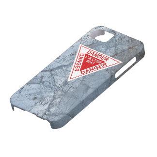 Peligro - etiqueta del asiento eyectable iPhone 5 Case-Mate cobertura