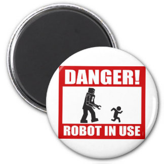 ¡Peligro! Imán funcionando del robot