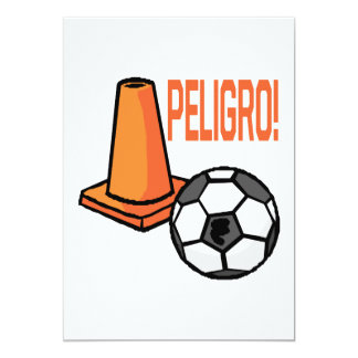 "Peligro Invitación 5"" X 7"""