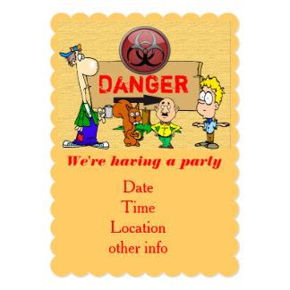 Peligro - invitación del fiesta