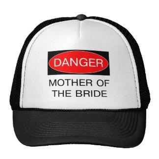 Peligro - madre de la camiseta divertida del boda  gorro