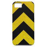 peligro negro y amarillo de la construcción iPhone 5 cobertura