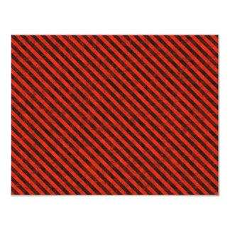 """Peligro negro y rojo rayado invitación 4.25"""" x 5.5"""""""