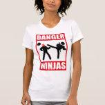 Peligro Ninjas Camiseta