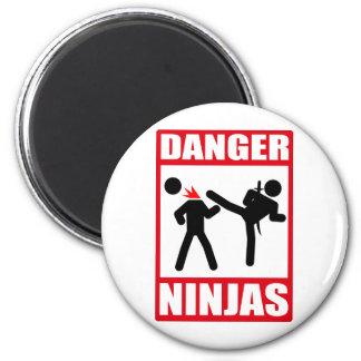 Peligro Ninjas Imán Redondo 5 Cm