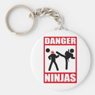 Peligro Ninjas Llavero Redondo Tipo Pin