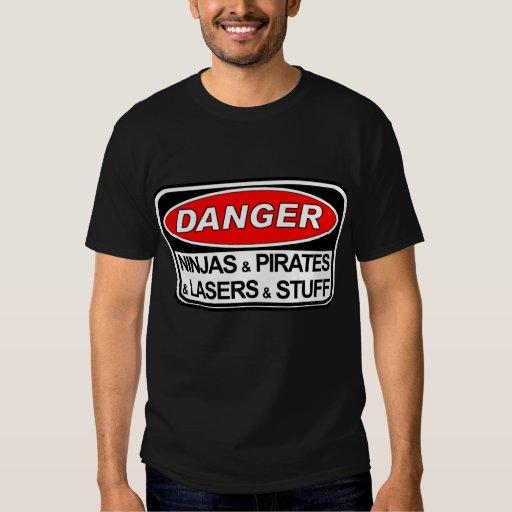 Peligro: Ninjas y piratas Camisas