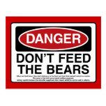 PELIGRO: No alimente los osos Postal
