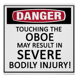 Peligro Oboe Impresiones