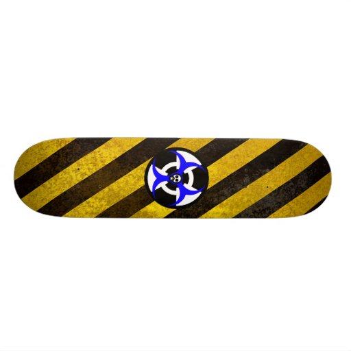 peligro, peligro bio-nuclear 2 tablas de skate
