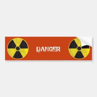 Peligro radiactivo de la señal de peligro el | pegatina para auto