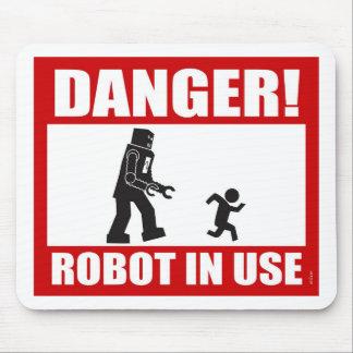 ¡Peligro! Robot Mousepad funcionando Tapete De Raton
