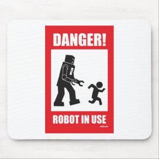 ¡Peligro! Robot Mousepad funcionando Tapetes De Raton