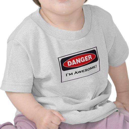 ¡PELIGRO soy impresionante! ¡Camiseta infantil!
