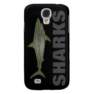 peligro - tiburones salvajes funda para galaxy s4