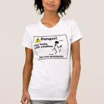 Peligro - utilice el cuchillo con la precaución camisetas