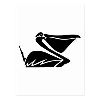 pelikan pelican tarjeta postal