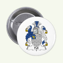 Pell Family Crest Button