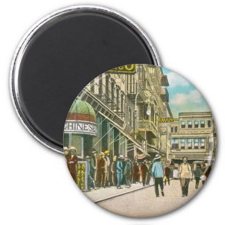 Pell Street (CHINATOWN), New York City (Vintage) 2 Inch Round Magnet