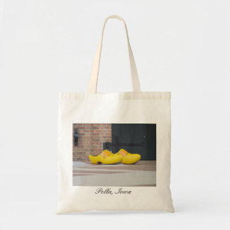 Pella, Iowa, zapatos holandeses de madera amarillo Bolsa Tela Barata