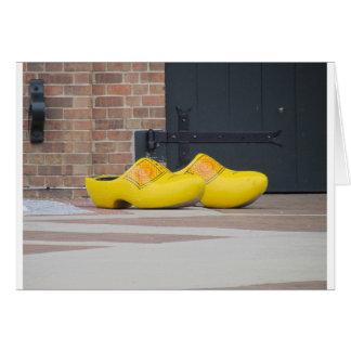 Pella, Iowa, zapatos holandeses de madera Tarjeta De Felicitación