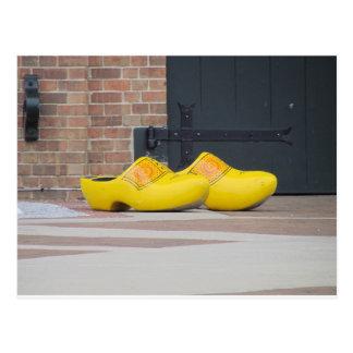 Pella, Iowa, zapatos holandeses de madera Tarjetas Postales